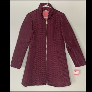 NWT Kate Spade bow back quilted coat. Small